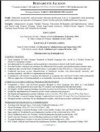 Sample Resume For Early Childhood Teacher Topshoppingnetwork Com