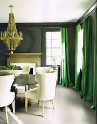 For example, here, they opted for a brighter green shade against the dark  green walls.