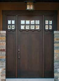 Single Wood Entry Doors Wood Entry Doors - Single with Sidelites