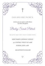 Imprintable Baptism Invitations First Holy Communion Invitation Templates Free Greetings Island