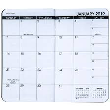 two year calender at a glance 70 024 05 2019 2020 two year monthly planner 3 1 2 x
