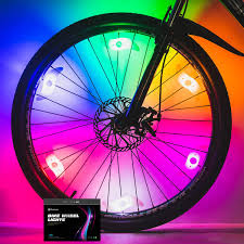 Wheel Lights Sumree Bike Spoke Lights Bike Wheel Lights For Cycling Bicycle Decoration 6 Pack Batteries Included And 6 Extra Batteries