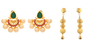 Latest Gold Jhumka Earrings Design With Price In India 9 Best 4 Gram Gold Earrings Designs For 2019 India Styles