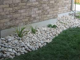 Landscape, Marvelous Green Rectangle Modern Grass Rock Landscaping Ideas  Decorative White Gravel Ideas: wonderful