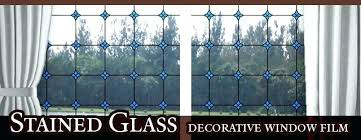 diy stained glass window stain faux windows leaded decorative ocean blue static cling diy stained glass window