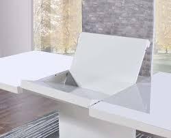 mark harris hayden white high gloss rectangular extending dining set with 6 grey malibu chairs