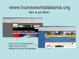 Image Link to access homework help Alabama website