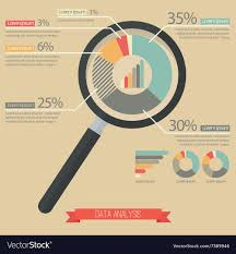 Magnifying Glass And Pie Chart Infographic