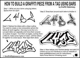 to draw graffiti letters for beginners