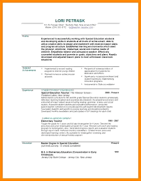 Resume Objectives For Special Education Teachers Teacher Resume