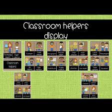 Classroom Jobs Chart Classroom Jobs Classroom Helpers Job Chart