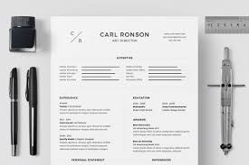 Minimalist Resume Template Word 24 Eye Catching CV Templates For MS Word Free To Download 14