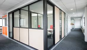 showroom mitry mory aluminum office partitions