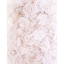 White Paper Flower Wall 5x7ft Antique White Paper Flowers Wall Custom Photography Backdrops