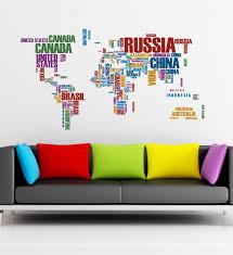 02 world map wall sticker art vinyl