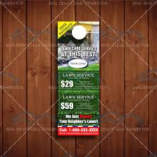 Lawn Service Door Hangers 68 Best Lawn Care Marketing Images On