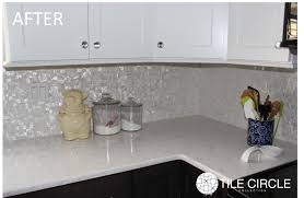 awesome mother of pearl tile backsplash before after photo circle groutless uk lowe bathroom australium home