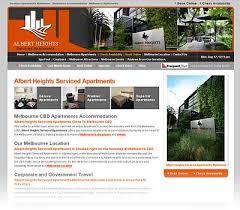 apartment website design. Albert Heights Serviced Apartments Apartment Website Design