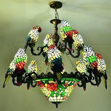 parrot chandelier