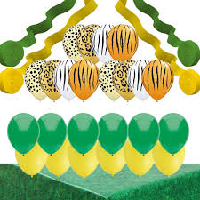 Jungle Theme Decorations Jungle Party Decorations Animal Print Balloons Streamers Table
