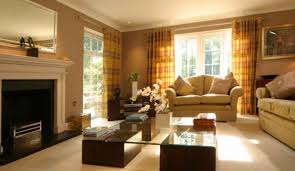 Living Room Decorating Color Schemes Living Room Gray Sofa White Bookcases Black Console Table Brown