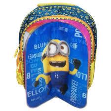 kidoz kingdom bag 3 cartoon character on 1 bag minions princess