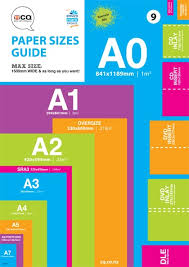 Paper Sizes Chart Standard Dimensions Cq Print Christchurch