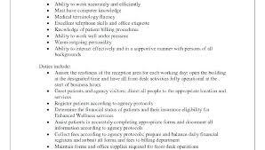 Sample Medical Receptionist Resumes Receptionist Job Description Resume Bitacorita