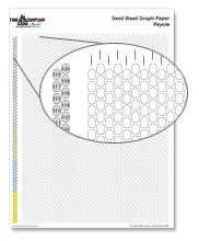 Chart Printable Seed Bead Graph Paper Fire Mountain Gems And Beads
