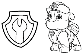 Colouring Pages Paw Patrol Chase Chase Paw Patrol Coloring Pages Paw
