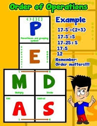 Order Of Operations Anchor Chart Order Of Operations Poster Anchor Chart With Cards For