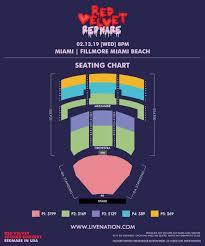 Fillmore Theater Miami Seating Chart