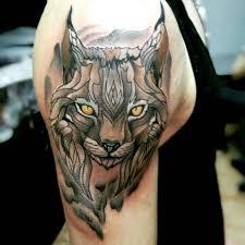 рысь тату геометрия татуировка рысь значение эскизы тату и фото
