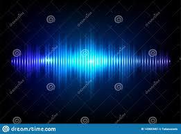 Light And Sound Design Wave Sound Neon Vector Background Music Flow Soundwave