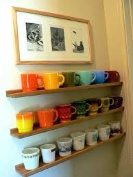 mug rack wall useful and enjoyable ways to your mugs expanding coffee mug wall rack