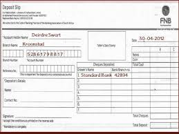 deposit slip examples fnb how to fill fnb or first national bank deposit slip of south
