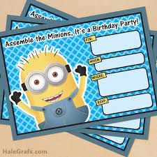 Everybody you know has a birthday! Free Printable Despicable Me Minion Birthday Invitation