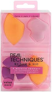 <b>Real Techniques Miracle</b> Complexion Sponge, <b>6</b>-Piece: Amazon.co ...