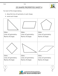 printable geometry worksheets rd grade  printable geometry sheets 2d shape properties 4