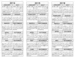Calendar 2015 June July Printable Calendar 20142015 2014 2015 2016 3 Year Calendar Free