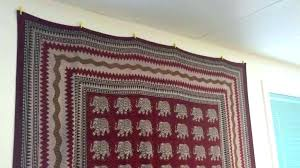 how to hang a blanket how to hang a tapestry without a rod super idea hang
