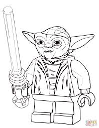 Small Picture Lego Star Wars Master Yoda coloring page Free Printable Coloring