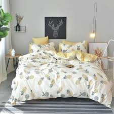yellow bedding sets king spring autumn new duvet cover set yellow bed sheet pineapple duvet cover yellow bedding sets