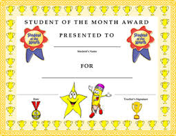 Student Of The Month Certificates Student Of The Month Award Certificate Kids Will Love It Tpt
