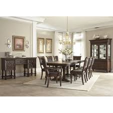 prescott dining trestle table 4 side chairs 79910