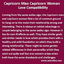 Capricorn Man With Cancer Woman Love Match Chart Capricorn Man And Capricorn Woman Love Compatibility At