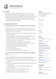 Resume Guide Customer Sales Representative Resume Samples