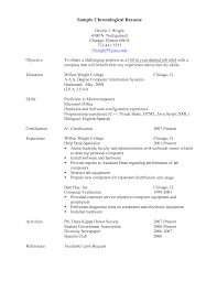 Reverse Chronological Resume Example Sample 7 Chronological