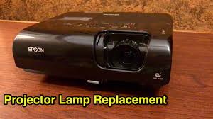 How to replace <b>lamp</b> bulb on <b>Epson</b> portable projector. - YouTube
