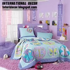 Purple Girls Bedroom With Stylish Girls Bedding, Butterfly Girls Bedding